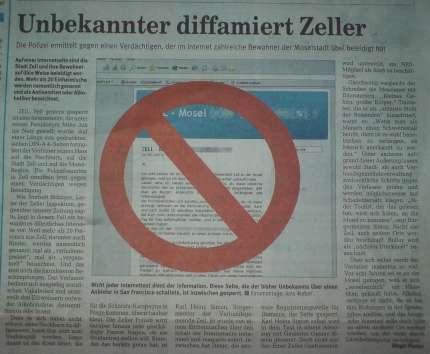 Rhein-Zeitung Artikel