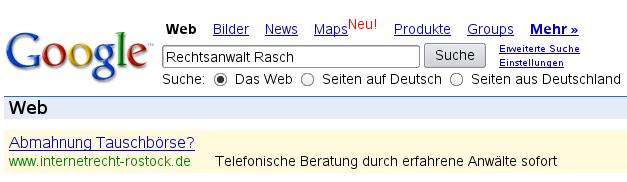 Rasch Google
