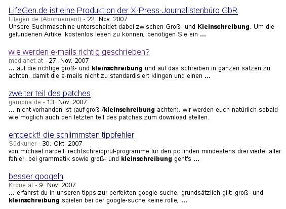 revolutionäre kleinschreibung bei google news