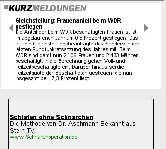 WDR-Personalpolitik ist zum Schnarchen