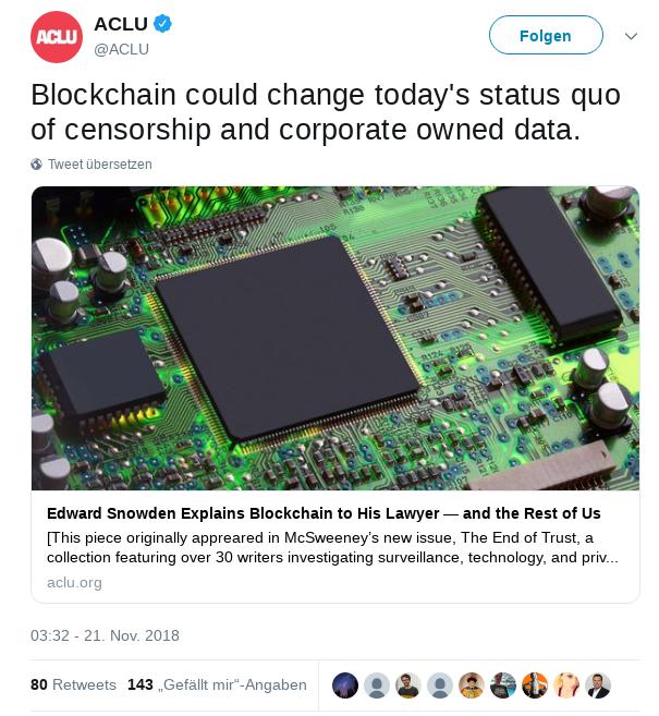 Die Blockchain und die Zensur