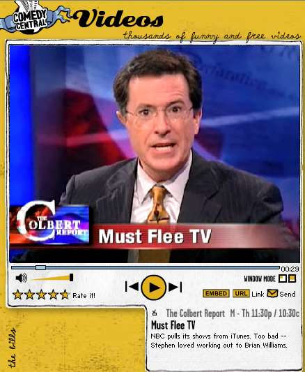 Stephen Colbert: Must Flee TV