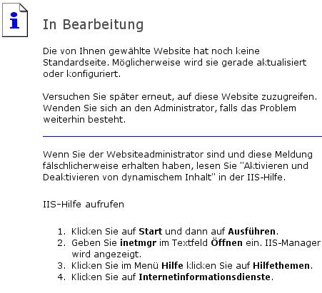 IIS-Fehlermeldung auf netzeitung.de