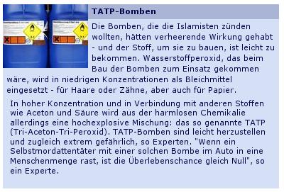 Screenshot Tagesschau.de: TATP-Infokasten