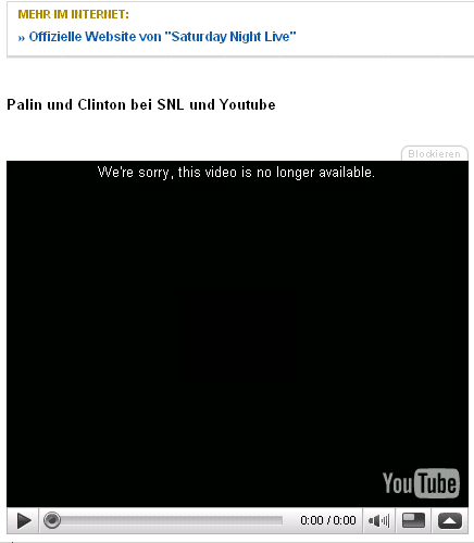 Youtube ohne Palin