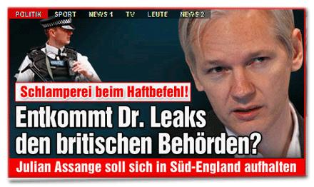 Entkommt Dr. Leaks den britischen Behörden?